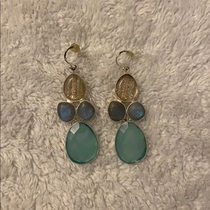 Stella and Dot Colorful Chandelier Drop Earrings